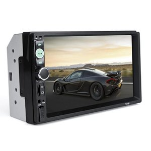 20pcs Universal 7010B 2 Din Car Video Player Touch Screen Panel Car Player Support FM MP5 USB AUX Bluetooth
