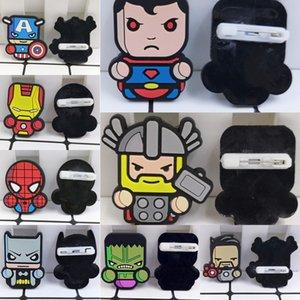 Criativa Marvel super-herói dos desenhos animados broche Pin saco broche de pino de segurança dos desenhos animados badge PVC crachá 78Xaj