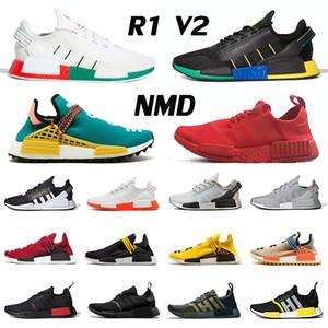 ayakkabı adidas NMD R1 V2 Koşu ayakkabısı Pharrell Williams Human Race Hu Trail Erkekler kadınlar Size eur 47 Yeni Varış 2020 Klasik İnsan Yarışları Eğitmenler Spor ayakkabılar