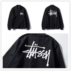 2020Stussy stussy classic Logo Baseball Blazer cardigan jacket simple and versatile for lovers 694H#