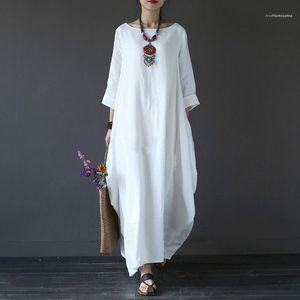 Moda Confortável Ladies Clothing Big balanço soltos Womens Vestidos O-Neck Casual Mulheres Designer vestido de verão