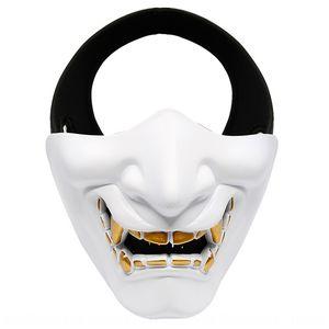 CXNUK Halloween Ball Ride Prajna e Devil Devil Horror Cos Halloween Ball Ride Prajna Donne Tactical Face Mask Maschera Mezzo Tactical Mas GPHJ