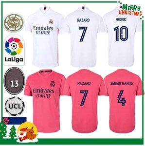 2020 James Real Madrid de fútbol Jersey Benzema Jović Modric Ramos Bale PELIGRO Kit deportivo 20 hombre 21 adultos + camisa de los niños de fútbol