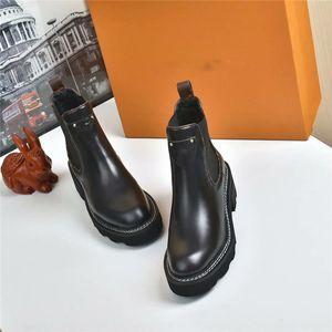 Sıcak Satış-Moda Tasarımcısı Ayak Bileği Çizmeler Kadın Ayakkabı Kış Çizmeler Bayanlar Kızlar Ipek Dana Deri Yüksek Üst Bayan Düz Ayak Bileği Boot