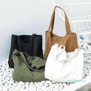 Large Pocket Casual Tote Women's Handbag Shoulder Handbags Canvas Capacity Bags Shopping Bag