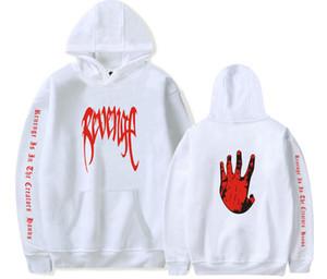 Hot 2020 Hot Brand Mens Rapper Hip Hop Sweater Palm Hands Painted XXX REVENGE Print Hooded Sweatshirt XXXTENTACION Men Women Pul