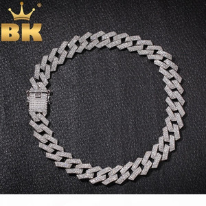 THE BLING KING 20mm Prong Cuban Link Chains Necklace Fashion Hiphop Jewelry 3 Row Rhinestones Iced Out Necklaces For Men CJ191216