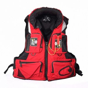 Unisex Polyester Life Jacket Adult Swimming Life Vest Outdoor Sport Safety Jacket L-XXL Fishing Vest Aid Drifting Boating R0AR#