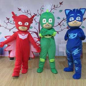 2018 Factory sale hot PJ MASKS Capes Cloaks With Eye Mask PJ Mask Costumes PJ Characters Capes Kids Halloween Party Costum Gifts mascot