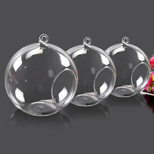 Glass Candle Holder Crystal Candle Holder Glass Hanging Ball Plant Pot Romantic Home Wedding Decoration 8cm 10cm 12cm HHA1567
