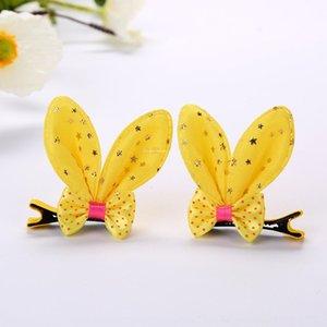 2020 nueva horquilla arco del oído tu Er Er Tu mariposa conejo oreja de conejo accesorios para el cabello clip de princesa linda Corea