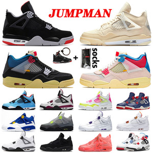 Zapatos 2020 air jordan retro off white x sail 4 Union aj jordans 4s iv jumpman Travis Scott Cactus Jack OVO Bred Satin Wholesale zapatillas de baloncesto para hombre
