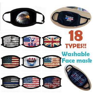 Diferentes Estilos Donald Trump máscara facial rosto boca máscara engraçada do anti-poeira de algodão EUA Máscaras Mulher Homens Moda Unissex inverno quente Máscaras laváveis