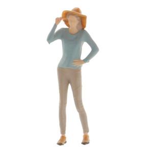 Minúsculos Pessoas Figuras, 1:64 trem do modelo escala Pessoas pintado mão Trens Modelo Arquitectónico Figuras que estão Miniaturas de cenas em miniatura