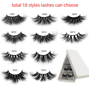 50 pairs pack 3d mink lashes Bulk wholesale Fluffy 25 mm mink eyelash Lash Vendors Natural False Eyelashes Individual Lashes Makeup