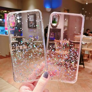 Simple Drip Flash Powder Mobile Phone Case For Iphone 11 X XS XR Max Case Can Be Customized