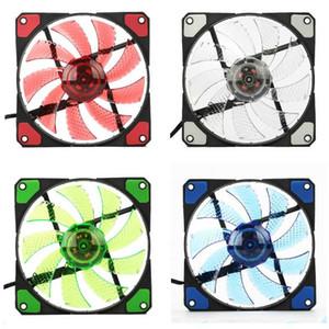 VIRIVI 120mm LED Ultra Silent Computer PC Case Fan 15 LEDs 12V Cpu Heatsink Cooler Master Cooling Fan DC 12V 4P 3P Connector