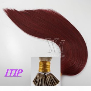 VMAE 100% Virgin Remy Single Donor Double Drawn Top Quality Piano color #35 #99J Flat I U Tip Straight keratin Glue Human Hair Extensions