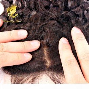 Бразильский Шелковый Закрытие 4 * 4 Deep Curl Silk Base Lace Closure с волос младенца Свободный Ближний 3 Часть человека Закрытие волос