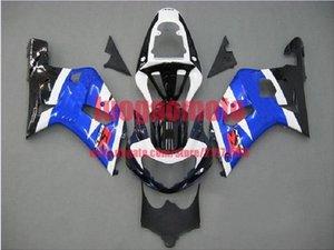 Body kits for white blue SUZUKI 2001 2002 2003 GSXR600 750 K1 K2 GSXR 600 750 01 02 03 K1 K2 GSXR600 GSXR750 fairing kits bodywork+gift