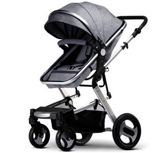 ارتفاع عرض عربة الطفل يمكن طيها على أربع عجلات AKHALTEC BABY STROLLER