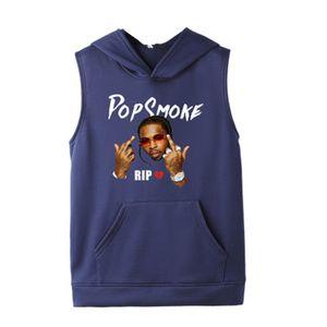 Pop Smok Menshoodies-Fashion Trend Ärmel Kapu Designer Mal Rapper Lässige Solid Color PulloverHoodies Drucke