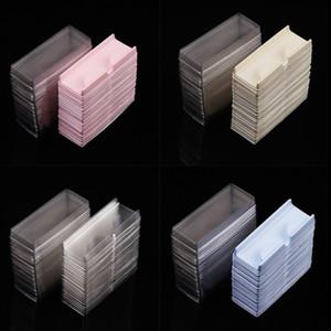 Cassetto per ciglia finte e scatola di imballaggio della copertura Vassoio vuoto / blu / giallo / giallo / Colori chiari Pacchetto per ciglia