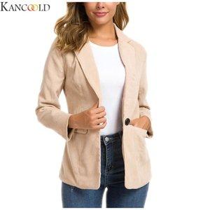 KANCOOLD Women Blazer Solid Long Sleeve Suit Coat Biker Jacket Outwear Tops Women's Office Print Suit Winter Long Blazer New