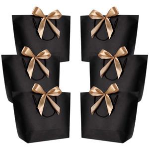 De gran tamaño embalaje caja de regalo de oro manipular sacos de papel de regalo de papel Kraft con favor manijas boda Baby Shower fiesta de cumpleaños