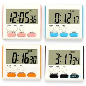 Temporizador de cocina Continúa 24 hours Recordatorio Timers digitales Electrónica Inglés Naranja Negro Azul del tiempo de venta medidor caliente 6 4LS L1
