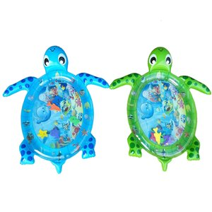 Inflatable Tummy Time Water Sea Turtle Shape Infants Toddlers Play Mat Toy Deals