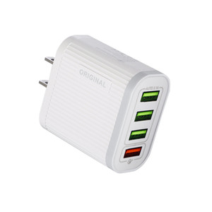 4 USB Ports Fast Charge Charger QC 3.0 Mobile Phone Charger 5V3A Multifunctional Fast Charge Tablet Travel Charging Head US EU Plug