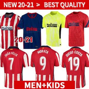 20 21 New # 7 JOÃO FÉLIX de Futebol 2020 Atletico Madrid KOKE SAÚL CORREA THOMAS LEMAR Futebol 2021 Homens Kids Shirts Camiseta De Fútbol