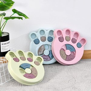 Pet Training Puzzle Dog Toy Slow Food Bowl Leaking Food Reward Dog Game Disc Board Funny Slow Eat Biting Dog Interactive Toys
