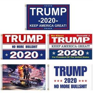 Banner Campaña Presidencial Donald Trump 2020 Bandera Keep America Gran Donald para el presidente campaña de banners 90 * 150cm Banderas Jardín FY6061