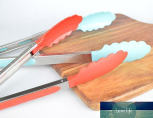 Silicone Food Clamp 7 Inch Head Food Tongs Bread Clamp BBQ Baking Cake With Different Color For Choice