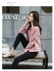 HAMALIEL Plus Size Women Pink Tweed Jacket Coat Runway Autumn Winter Long Sleeve Open Stitch Weave Female Fashion Outerwear