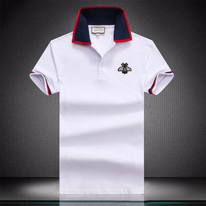 NOUVEAU Summer Designer Hommes Polos 2020 Mode Hommes Top Turn Down Collar Business Casual Chemises T-shirts