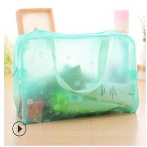 Pastoral bolsa de lavado bolsa de cosméticos de flores bolsa impermeable transparente de almacenamiento de almacenamiento de productos para el baño de baño