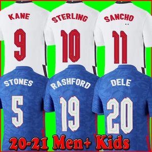 Angleterre maillot de foot coupe d'Europe 2020 KANE STERLING VARDY RASHFORD DELE 20 21 équipes nationales maillots de football hommes + enfants kit uniformes de la england