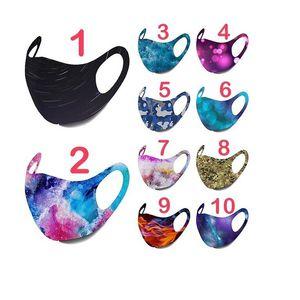 Star Sky Printed Face Mask Камуфляж Огнь Рисунок Муть цвет Подвесной Многоразовые маски Звездной Печать Печать моющегося Mascarilla Мода