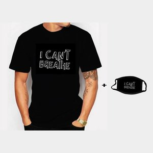 Unisex Men T Shirt Justice for George Floyd I Can't Breathe Artwork Printed Tee basic white cotton clothing for summer MX200613