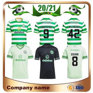 20/21 Celtic Football Maillots 2020 Accueil MCGREGOR BROWN GRIFFITHS EDOUARD football maillot extérieur FORREST CHRISTIE ROBERTS 3 uniforme de football