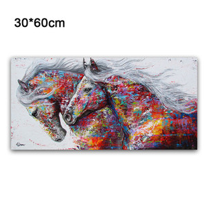 Oil Painting Poster Modern Matt Large Colorful Picture Canvas 4 Sizes Room
