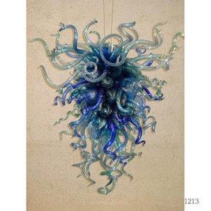 Retro Designer Dark Blue Crystal Chandelier Cheap Wholesale Designer moderne salle à manger Art en verre de Murano d'appareils d'éclairage