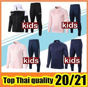 2020 2021 Futbol ceket eşofman 20/21 çocuk Kapşonlu ceket futbol Spor Eğitim takım elbise