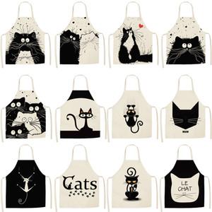 مصمم طفل بلا أكمام المريلة القط الطباعة لطيف الكرتون المريلة منسوجات منزلية Housewear قبلات موضة 2020 (47 * 38CM)