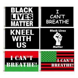 3x5 FT Außen Folienbanner- Schwarz Lives Matter Flag Garden House Wohnkultur alle Menschen gleich Ich kann nicht atmen