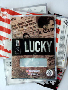 LUCKY Mylar Bags 3.5G Resealable Smell Proof bags packaging Free DHL shipping