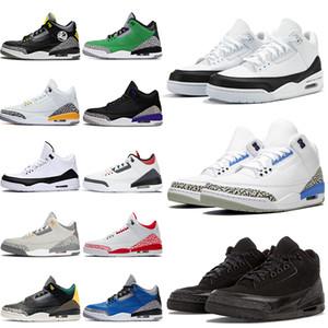 Nike Air Jordan Retro 3 3s Mens Fragmento Katrina instinto animal 2,0 sapatos alta de basquete cetimJordâniaRetro externas treinadores desportivos Sneakers